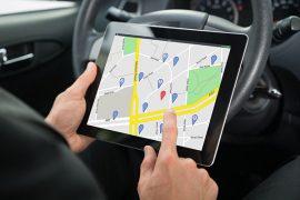 Tablet mit Navigation