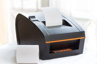 Kassenbon wird gedruckt